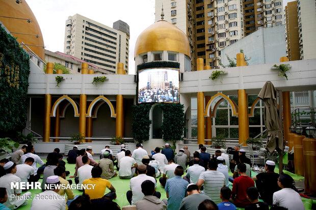 مراسم عيد الفطر في نقاط مختلة على وجه المعمورة
