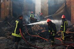 """حريق في سوق """"قم"""" القديم /صور"""