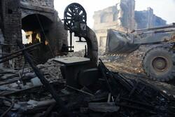 Kum'da tarihi çarşıda yangın çıktı