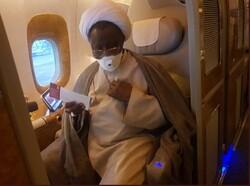 طائرة الشيخ الزكزاكي تحط في نيجيريا