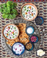 "Beat the heat with tasty Iranian cold soup ""Ab Doogh Khiar"""