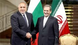 Iranian First Vice-President Eshaq Jahangiri and Bulgarian Prime Minister Boyko Borissov