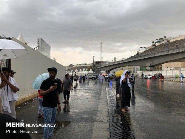 بارش باران در منا