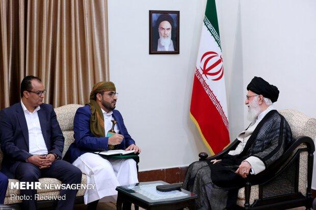 Meeting between Iran's Leader and Yemeni delegation