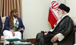 دیدار  سخنگوی جنبش انصارالله یمن با رهبر معظم انقلاب