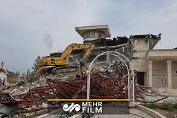 تخریب ویلاهای غیرمجاز در روستاهای پیشوا _ ورامین