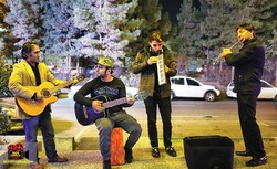 Street performers give a performance in Tehran in an undated photo. (boxofficeiran.com)