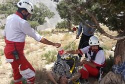 نجات یک مرد ۶۰ ساله در کوهستانهای منطقه روستایی رامه