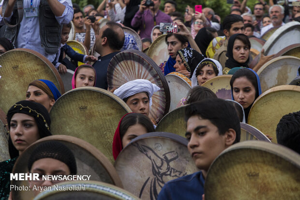 9th tambourine festival in Sanandaj