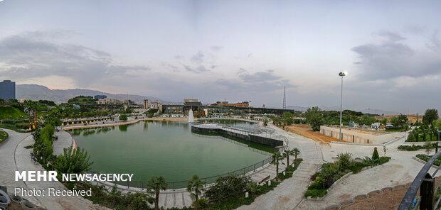 افتتاح بحيرة جديدة بقلب مدينة طهران