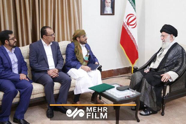 رہبر معظم سے یمنی تنظیم انصار اللہ کے وفد کی اہم ملاقات