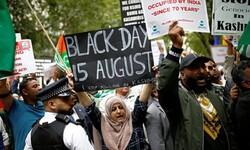 لندن میں بھارتی سفارتخانہ کے سامنے مظاہرہ