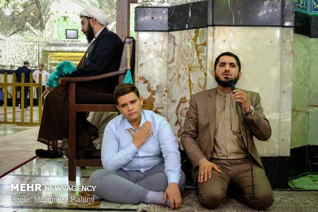 غبار روبی ضریح مطهر حضرت عبدالعظیم حسنی (ع)