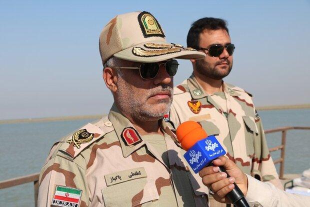 کشف ۱۶۰ تُن سنگ آهن قاچاق توسط مرزبانان دشت آزادگان خوزستان