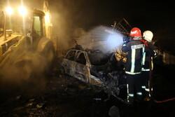 قم میں غیر قانونی گیس سیلنڈر گودام میں دھماکہ