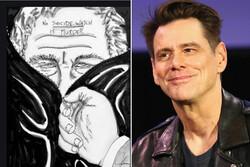 جیم کری یک نقاشی دیگر کشید/ واکنش به مرگ اپستین