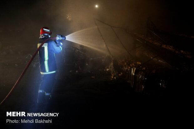 انفجار انبار غیر مجاز سیلندرهای گاز مایع در قم