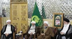 دیدار تولیت آستان قدس رضوی با مراجع عظام تقلید و علما در مشهد
