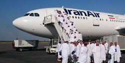 Iranian hajj pilgrims returning home