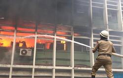 نئی دہلی کے میڈیکل سینٹر میں آگ لگ گئی