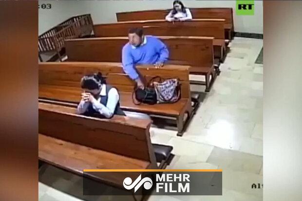 لص في احد كنائس البرازيل