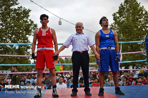 Iran, Azerbaijan boxing competition in Baku