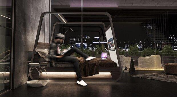 تختخواب هوشمند برای تماشای تلویزیون طراحی شد