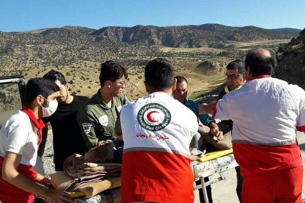 انتقال بیمار از منطقه کوهستانی چهارباغ