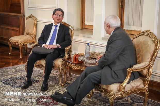 FM Zarif's meeting with Japanese Deputy FM