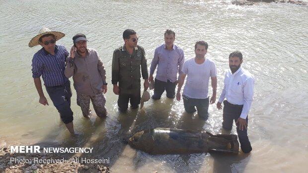 إكتشاف قنبلة من بقايا الحرب المفروضة على إيران