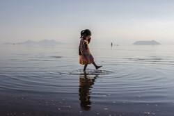 تفریح خانوادگی در دریاچه ارومیه