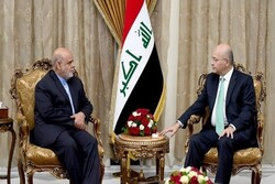 Iran's ambassador meets with Iraqi President in Baghdad