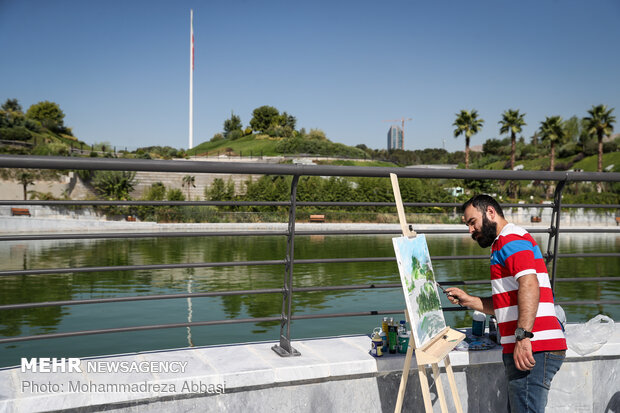 Tehran's new artificial lake officially opens to public