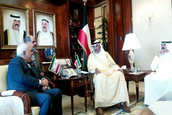 وزیران امور خارجه ایران و کویت دیدار و گفتگو کردند