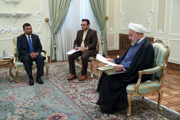 Pres. Rouhani says Iran ready to expand all-out ties with Bangladesh