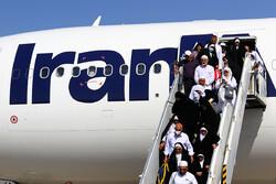 ایرانی حجاج کی سفر حج سے واپسی