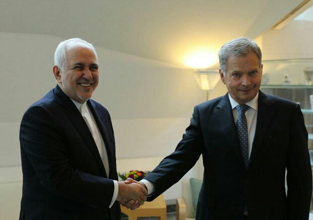 VIDEO: Zarif's meeting with Finnish president