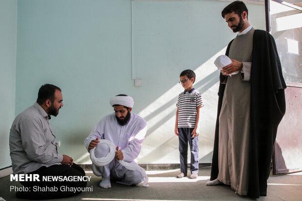 مراسم عمامه گذاری طلاب حوزه علمیه امام رضا (ع)