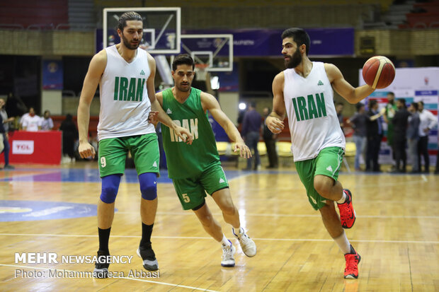 Last training session of Iranian basketball team before world cup