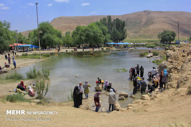 Dimeh spring attractive resort in Summer