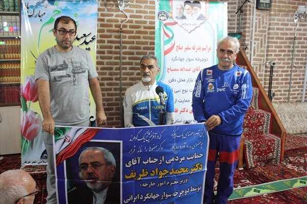 دوچرخه سوار جهانگرد ایرانی سفر خود را از مرند آغاز کرد