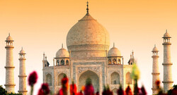 A view of Taj Mahal, India