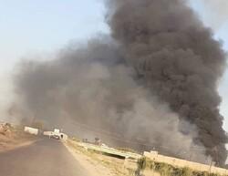 انفجار در زاغه مهمات حشد شعبی در استان صلاح الدین عراق