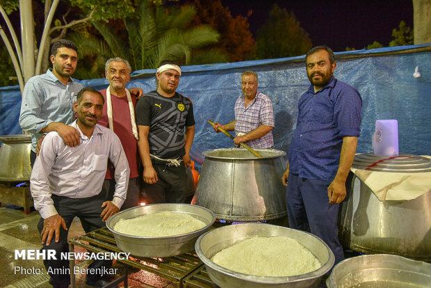 مطابخ النذور في شيراز موقدة احتفالاً بعيد غدير خم