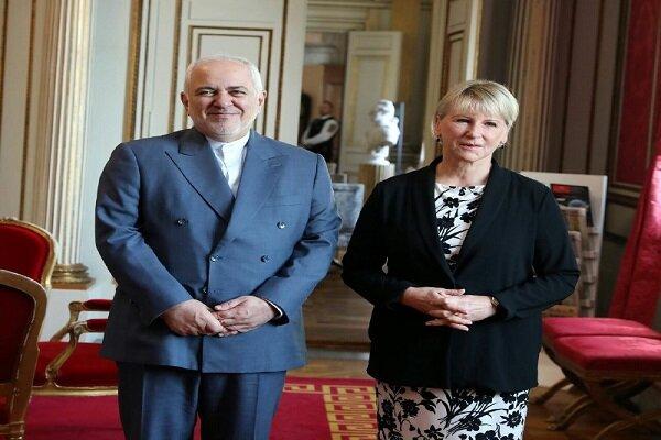 ظریف با وزیر خارجه سوئد دیدار و گفتگو کرد