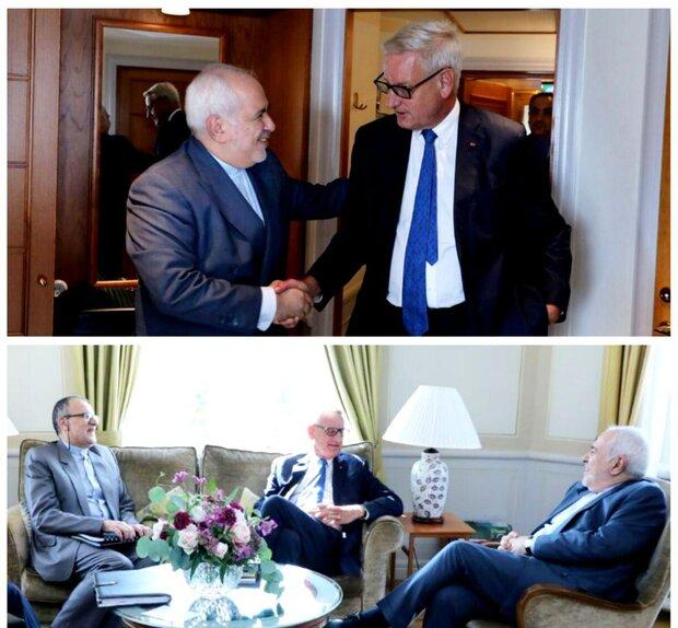 ظريف يلتقي رئيس الوزراء السويدي الاسبق
