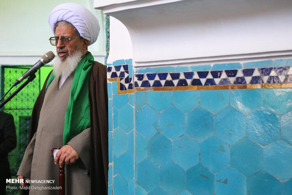 گردهمایی سادات و برپایی نماز عید غدیر در مسجد امیر چخماق یزد