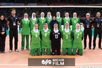 لحظه خوشحالی بانوان ملی پوش والیبال ایران پس از پیروزی هنگکنگ