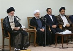Leader receives Pres. Rouhani, his cabinet