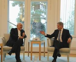Javad Zarif and President of Finland Sauli Niinisto